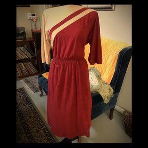 Vintage 70s Melissa Lane UltraSuede Day Dress